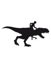 reiten tyrannus saurus rex dinosaurier dino sauriern riesenechse hut rücken opa großvater alt rente enkel mann geburtstag silhouette schwarz umriss schatten