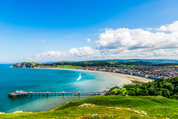 Llandudno Sea Front in North Wales, United Kingdom Fototapete