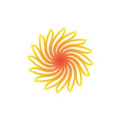 Stylized sun logo