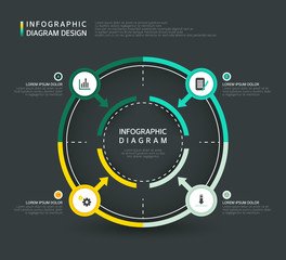Infographic diagram Design illustration