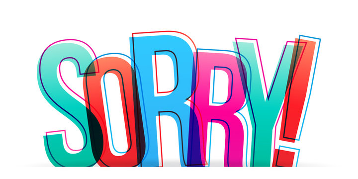 Sorry! Isolated vector illustration word