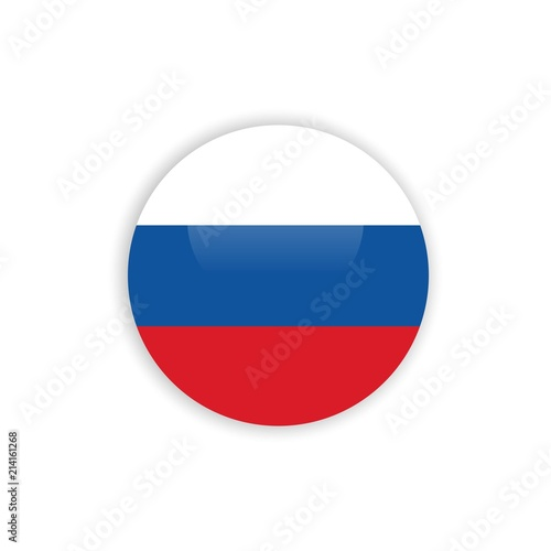 Button Russia Flag Vector Template Design Stock Image And Royalty