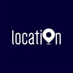 Location text logo vector template. logo text element