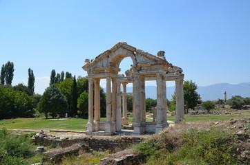 Aphrodisias ancient greek city tyrkey caria ruins stones marble summer