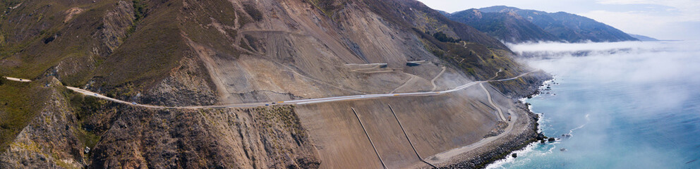 California Highway 1 landslide rebuild 6
