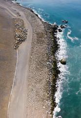 California Highway 1 landslide rebuild 2