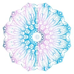 Mandala Style Vector Color Shapes. Abstract design. Decoration for fashion, holiday card, relax illustration.