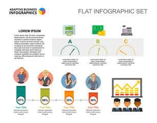 Cooperation percentage chart template for presentation. Business data. Abstract elements of diagram, graphic. Company, analysis, finance or marketing creative concept for infographic.