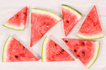 Slice of watermelon, concept of healthy delicious dessert