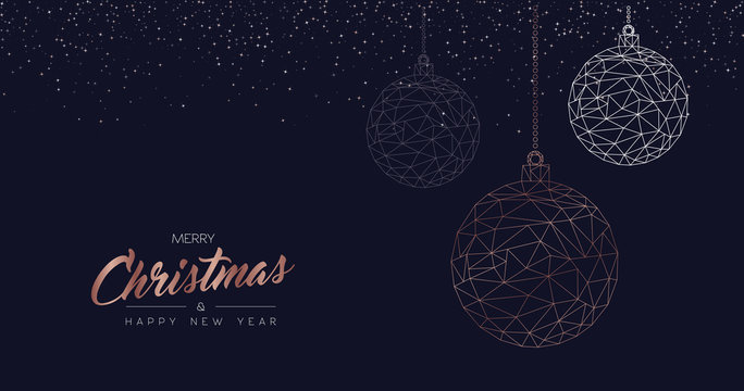 Christmas and new year luxury bauble web banner
