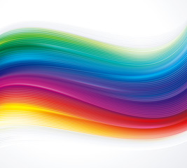 Abstract colorful texture wave background.