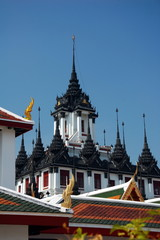 Loha Prasat (Metal Castle or Iron Temple) in Wat Ratchanatdaram. Wat Ratchanatdaram is a buddhist temple in Bangkok, Thailand