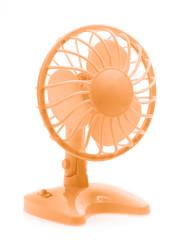 orange fan isolated on white background