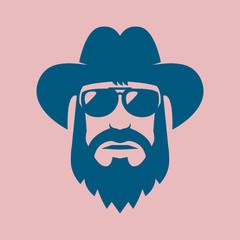 Bearded American Cowboy