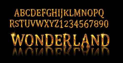 Wonderland font. Fairy ABC