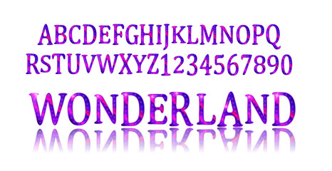 Wonderland font. Fairy ABC