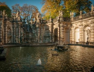 Dresden fountain in city center