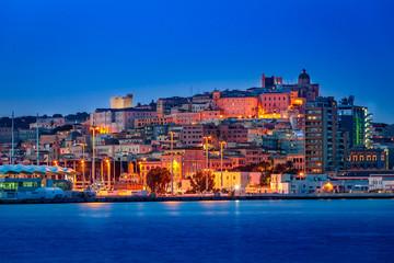 Cagliari dal porto Fototapete