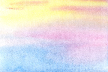 Wet painted watercolor gradient