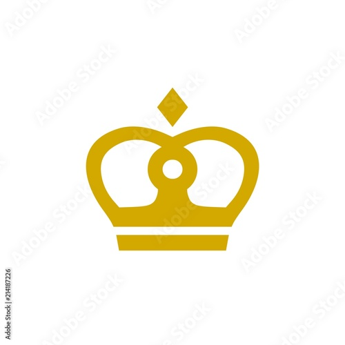 crown logo template crown simple icon stock image and royalty free