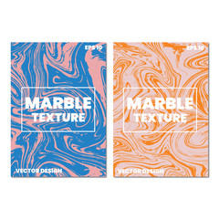 Set of abstract marble liquid backgrounds. Perfect design for posters, cards, brochure, invitations.Eps 10 vector file.