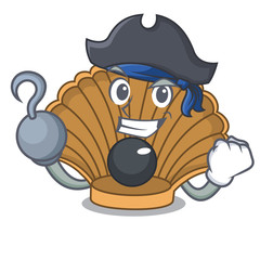 Pirate shell with pearl character cartoon