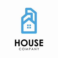 House Simple Logo Design Template For House Business