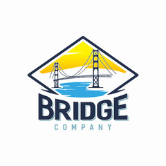 Bridge Logo Design Template For Bridge Building