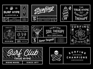 White on black surf badges vol. 2