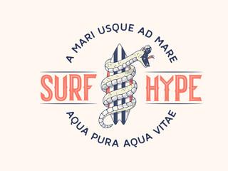 Surf Hype vector illustration