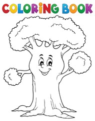 Poster For Kids Coloring book cheerful tree theme 1