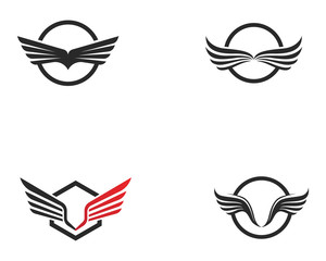 Falcon Wing Logo Template vector icon design