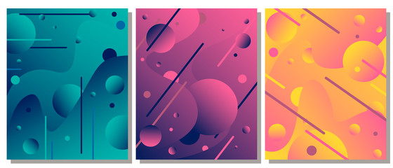 Unique modern abstract background with fluid elements. The abstract background is suitable for typographic products, web-design, and decoration of objects.