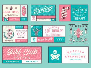 Colored surf badges vol. 2
