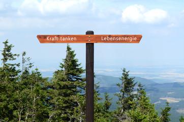 Lebensenergie, Gesundheit, Landschaft, Wegweiser