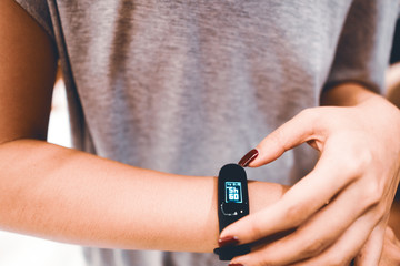Nail Polish And A Fitness Tracker
