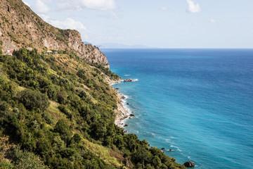 Beautiful coast along the Adriatic sea near Budva in Montenegro in the Balkans in Europe