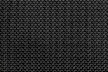 Black nylon fabric texture background for design.
