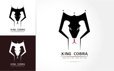 Cobra snake logo  template Vector illustration