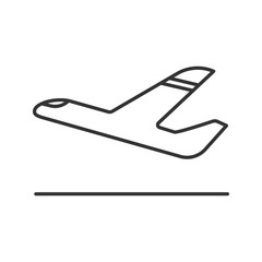 Airplane departure linear icon
