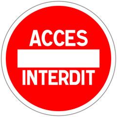 Panneau routier en france: sens interdit - accès interdit