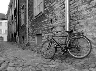 black and life street life retro bicycle