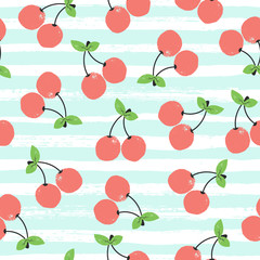 Seamless background with cherry