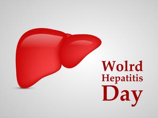 Illustration of World Hepatitis Day awareness background