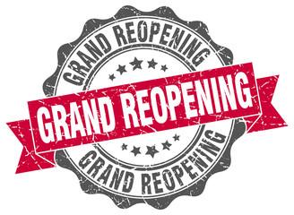 grand reopening stamp. sign. seal Papier Peint