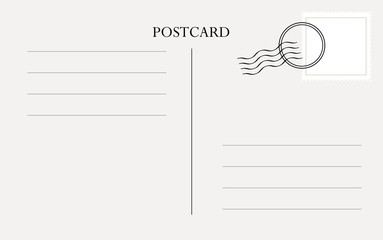 Postcard template vector