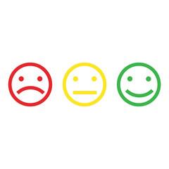 Emoticons icon isolated on white background. Vector illustration.