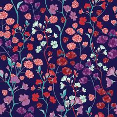 Cherry Blossom Seamless Vector Pattern