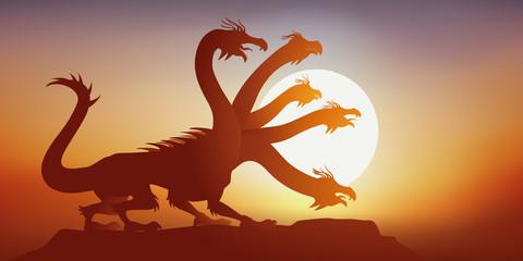 hydre - mythologie - animal - imaginaire - fantastique - légende - mythique - créature - monstre