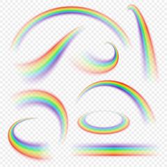 Realistic rainbow curve